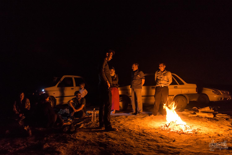 Une soirée dans le désert iranien