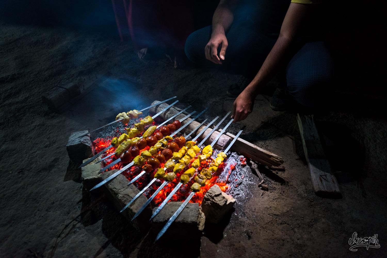 Les kebabs sont prêts !