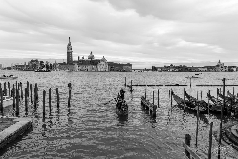 Gondoles et église San Giorgio Maggiore