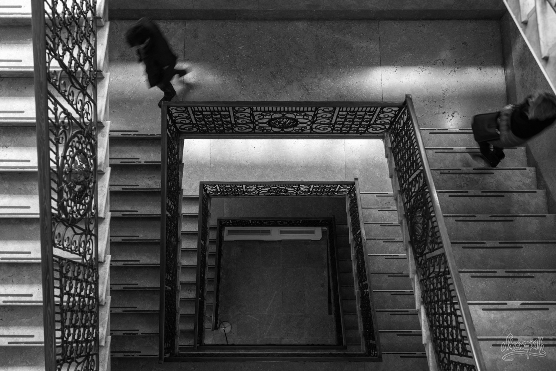 Escaliers...