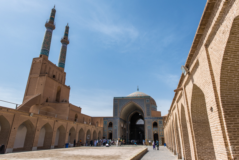 La cour de la Jameh mosque de Yazd