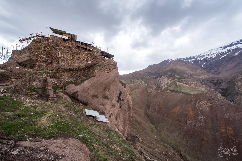 La forteresse des assassins, dans la vallée d'Alamut