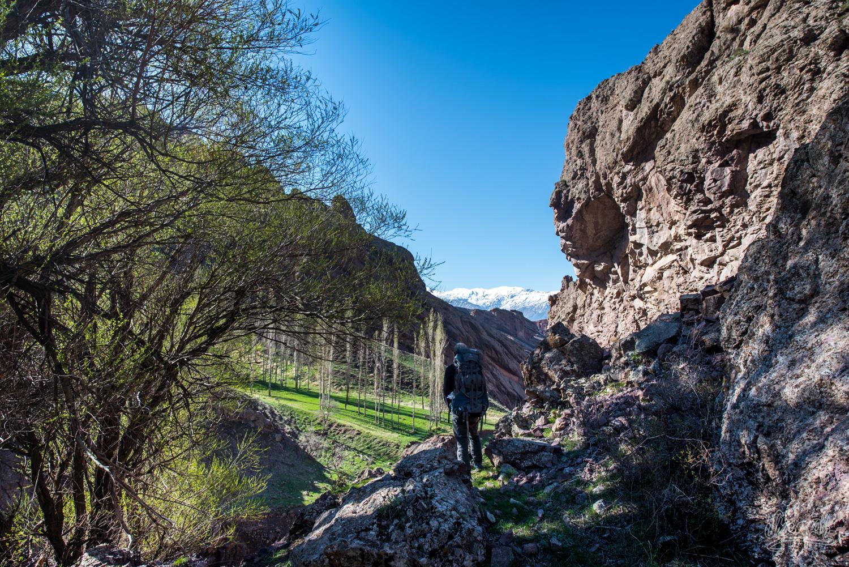 Randonnée dans la vallée d'Alamut