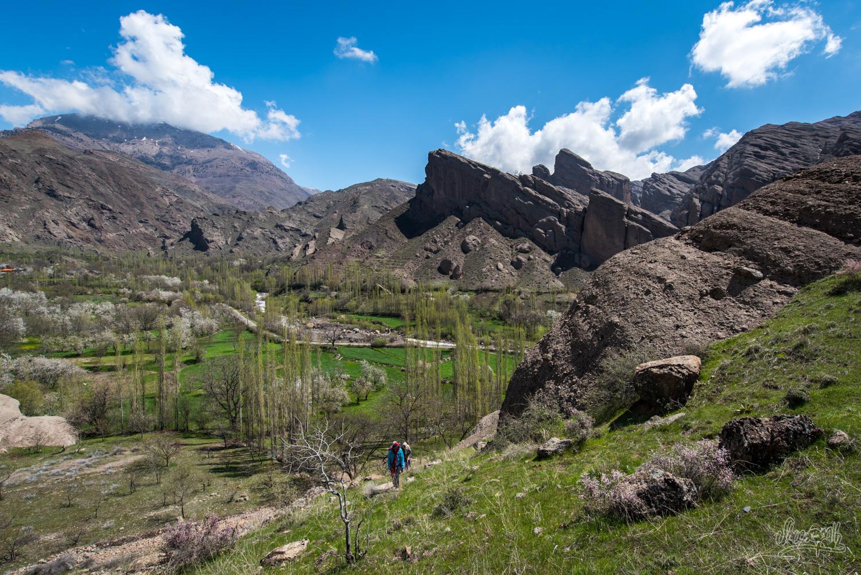 Dans la région des canyons d'Alamut