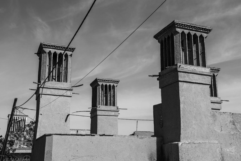 Les badgir du vieux centre de Yazd