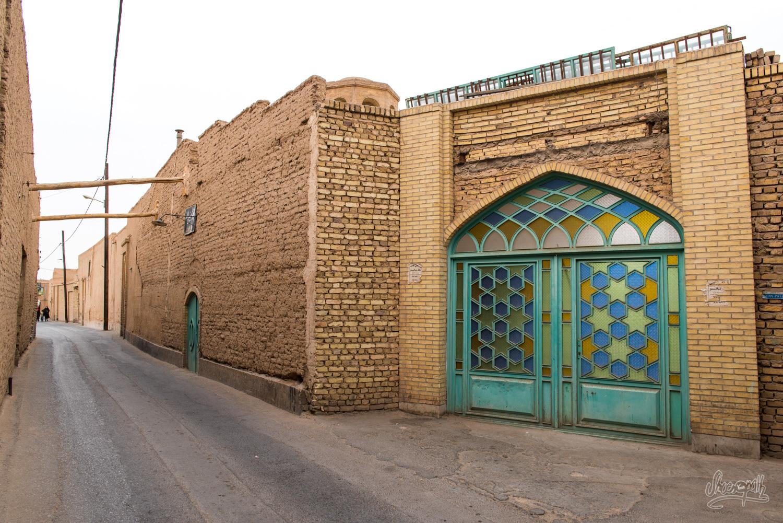 Dans les ruelles du vieux centre de Yazd