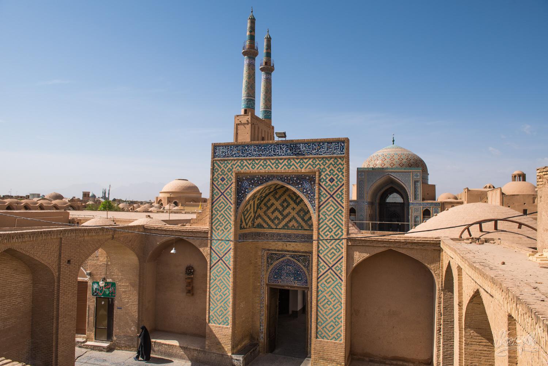 Depuis les toits de Yazd
