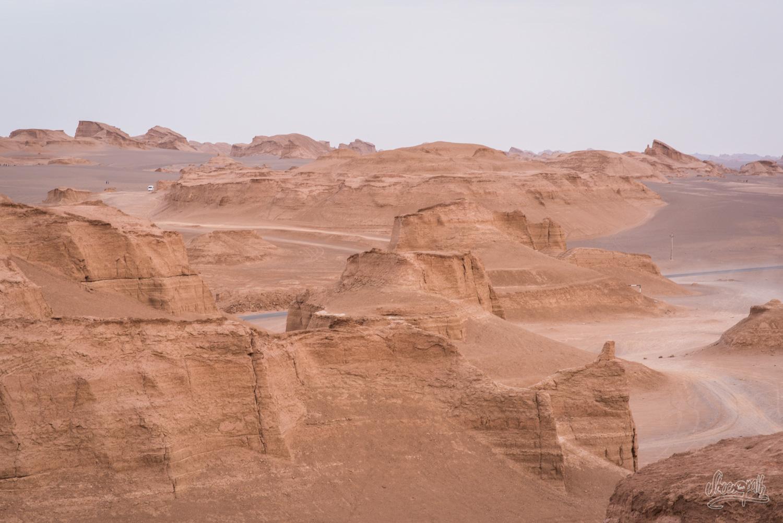 Les kalut, dans le désert de Lut près de Kerman