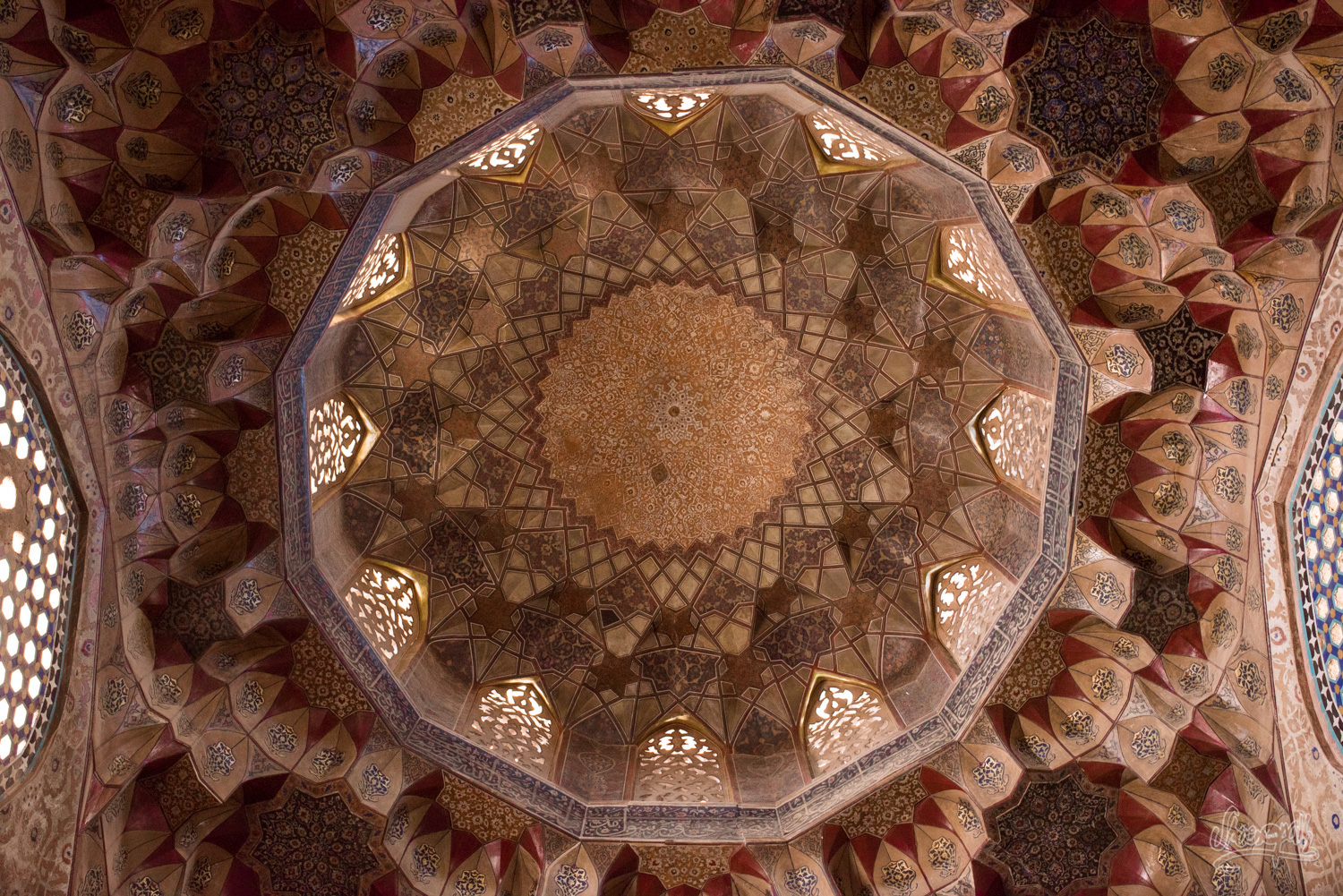 The roof of Ganjali Khan mosque in Kerman