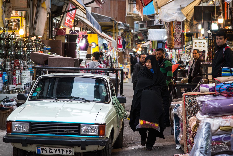 Dans le bazar de Rasht