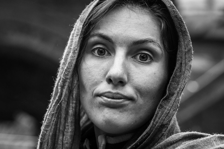 Mariette dans le bazar de Rasht