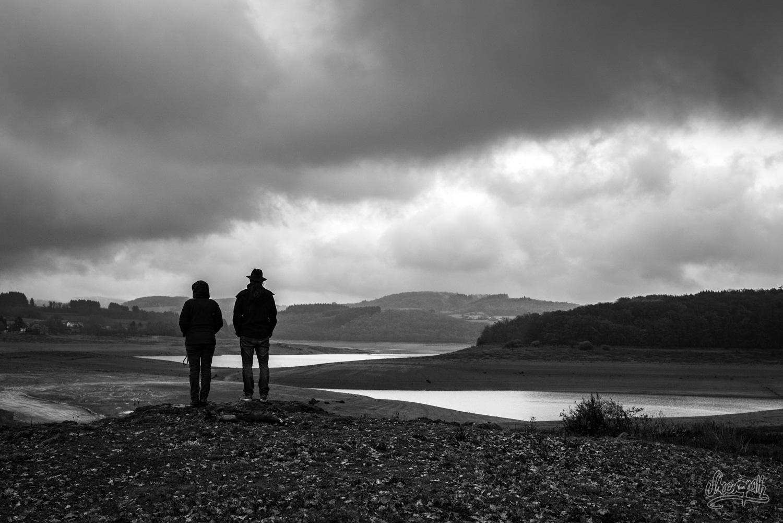 Au fond d'un lac articifiel vide dans le Morvan