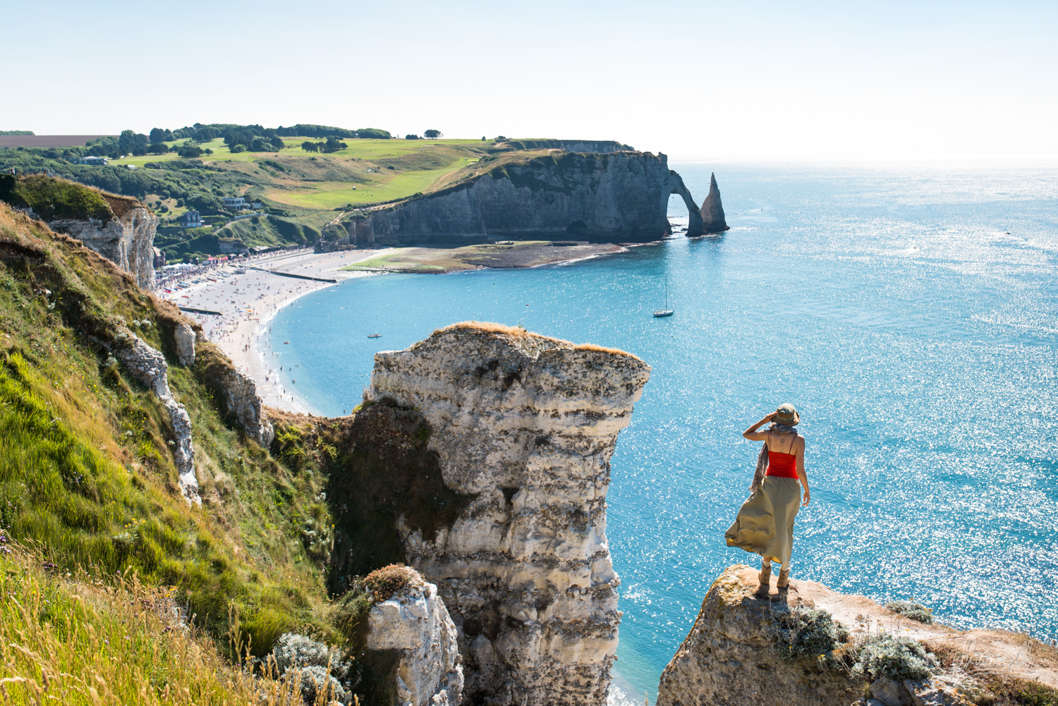 154 - Up the cliffs of Etretat in Normandy, France