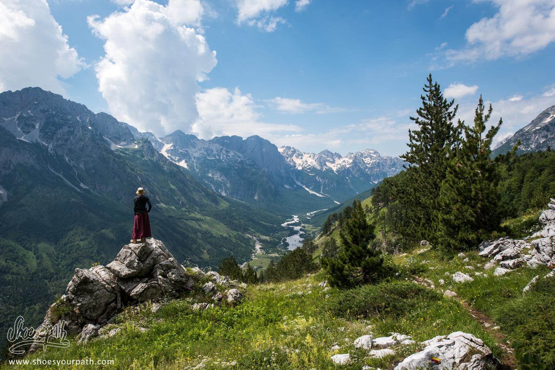 En route vers le col de Prosllopit, Albanie - Peaks of the Balkans