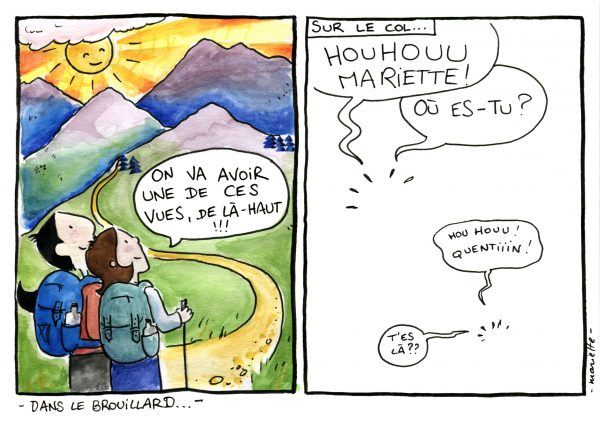 Dans Le Brouillard - BD Shoesyourpath - Mariette -