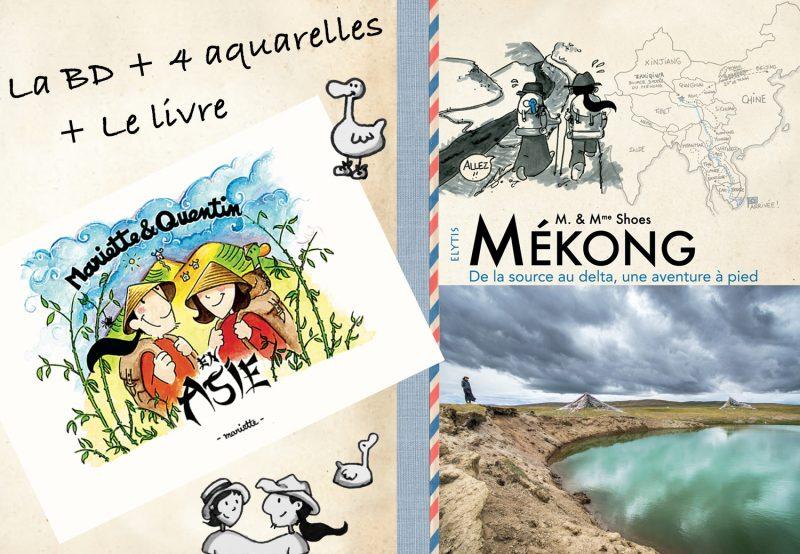 Livre Mékong + BD «en Asie»