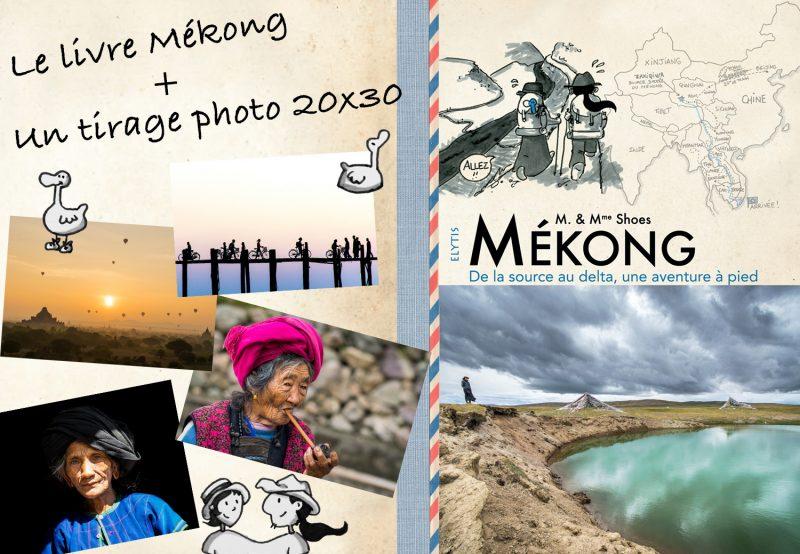 Combo : Mékong. De la source au delta, une aventure à pied + tirage photo