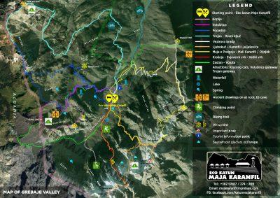 Carte Grebaje Valley - Eco Katum Maja Karanfili