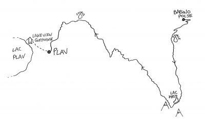 Peaks of the Balkans - Map - Babino Polje to Plav