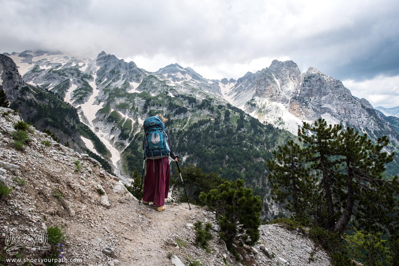 217 - On Valbona pass, Albania - Peaks of the Balkans