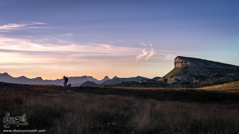 Sunrise on the plateau du Vercors