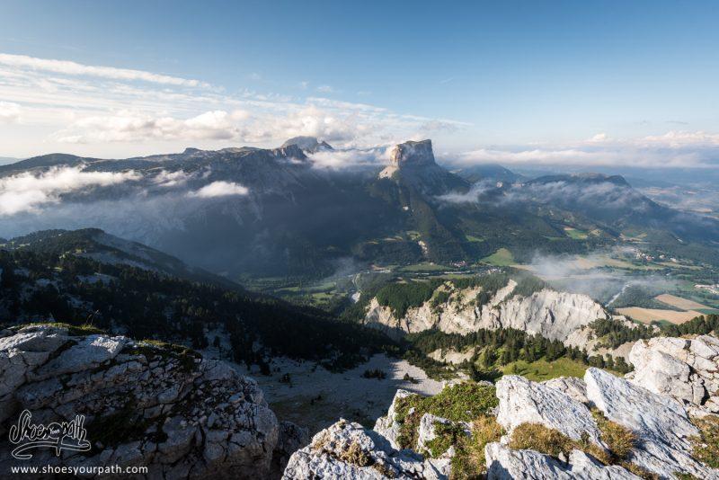 Vision Panoramique Depuis Le Haut Du Plateau Du Vercors