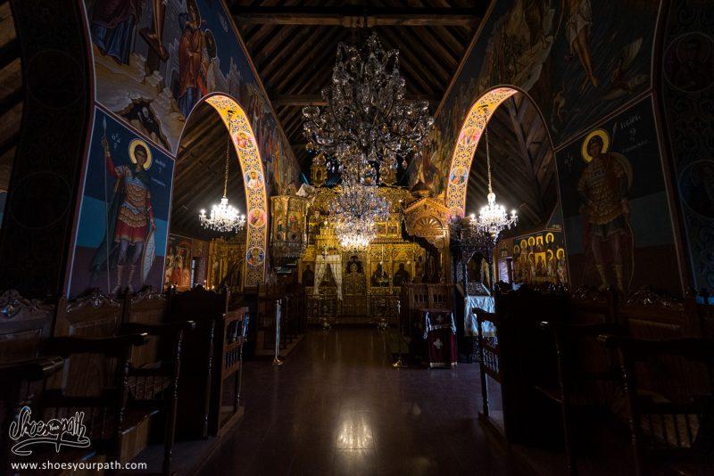 Dans L'église Du Monastère De Trooditissa, Perdu Dans Le Massif De Troodos