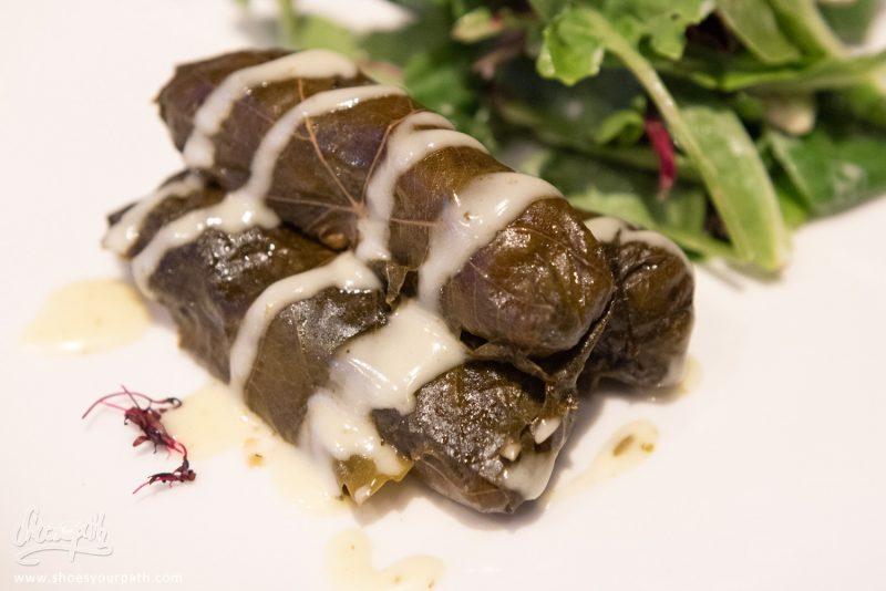 Les Traditionnelles Feuilles De Vignes Farcies - Finikas Restaurant, Polis.
