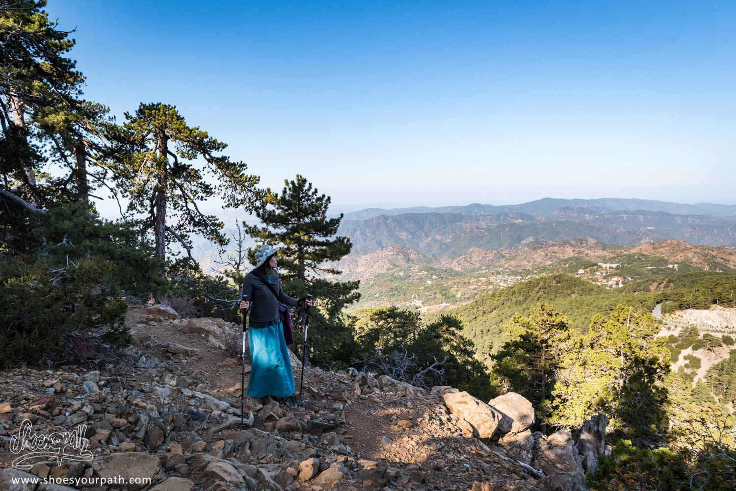 On the heights of Mount Olympos in the Troodos mountains, on the Atalanti Nature Trail - Cyprus