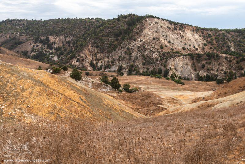 Le Paysage En Haut Des Gorges D'Avakas Sur Le Chemin De La Boucle De 10km