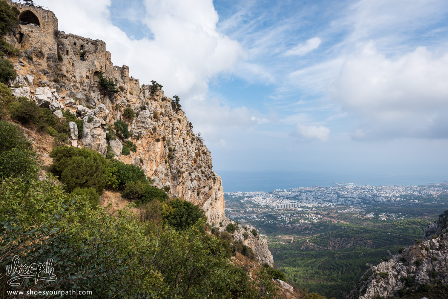 Strategic point of Northen Cyprus, Saint Hilarion castle offers today an amazing view over the fishing town of Kyrenia