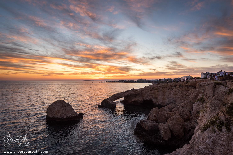 Coucher de soleil sur le Love Bridge, Ayia Napa - Chypre