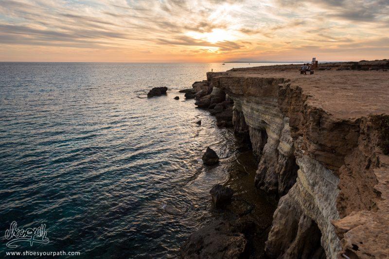 Coucher De Soleil Sur Les Sea Caves, Cape Greco, Ayia Napa - Chypre