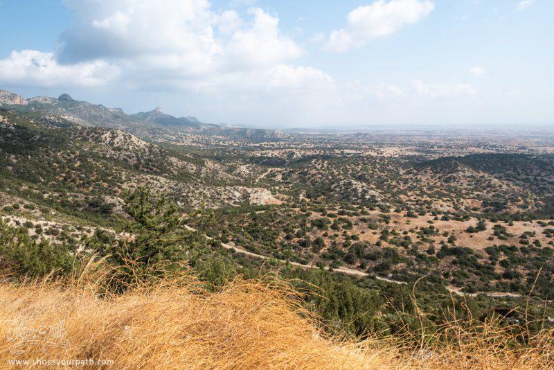 Vue Sur Les étendues Arrides De Chypre Du Nord Depuis La Chaîne De Kyrenia