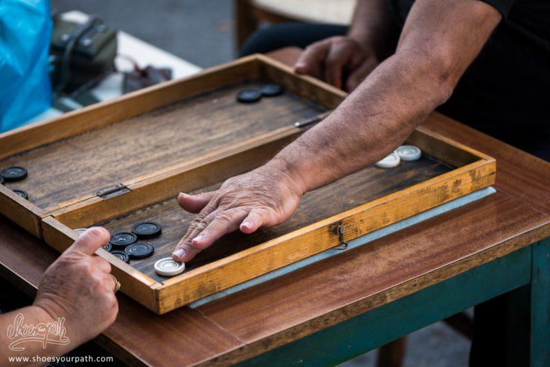 Détail D'une Partie De Backgammon