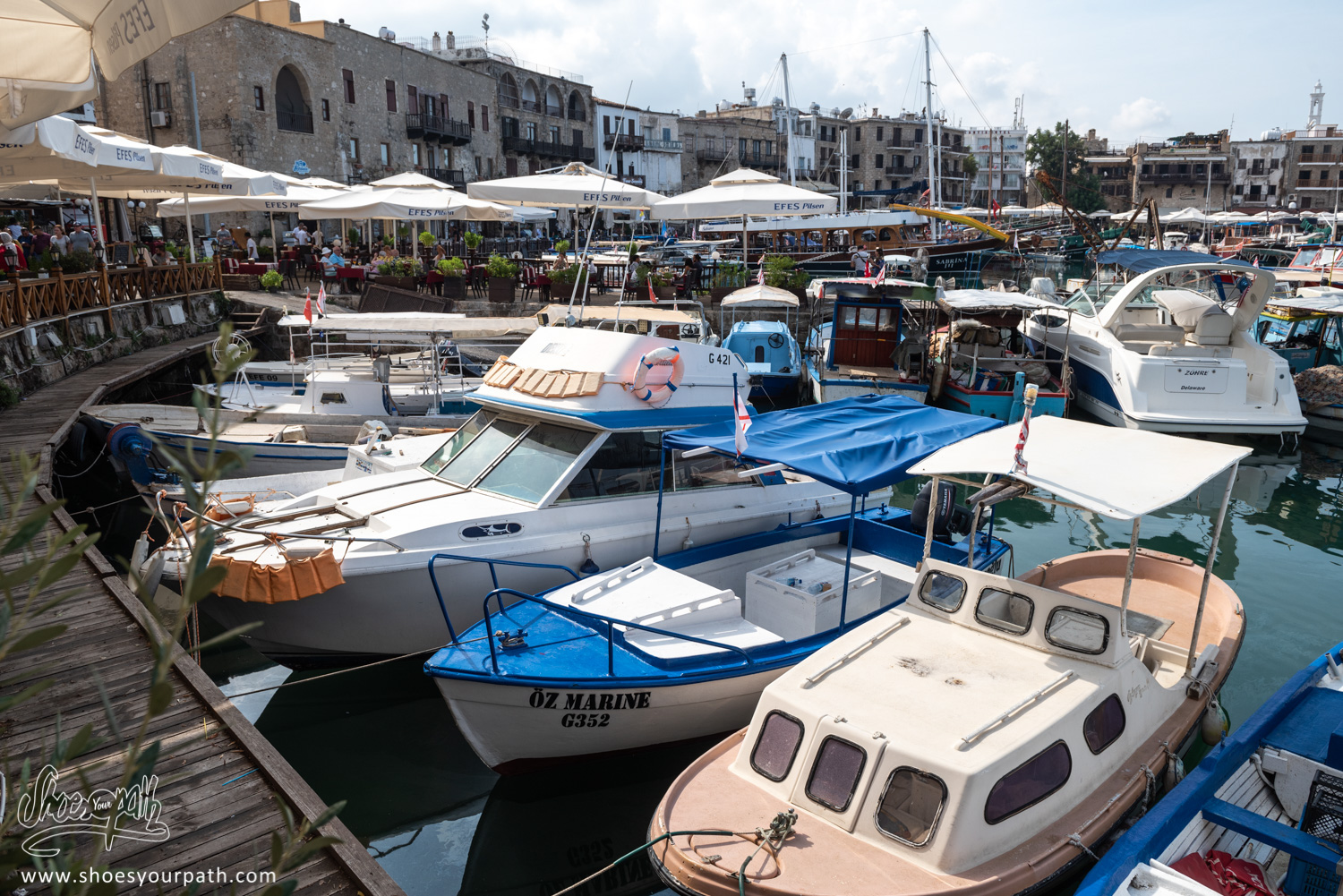 Restaurants around the fishing harbor of Kyrenia