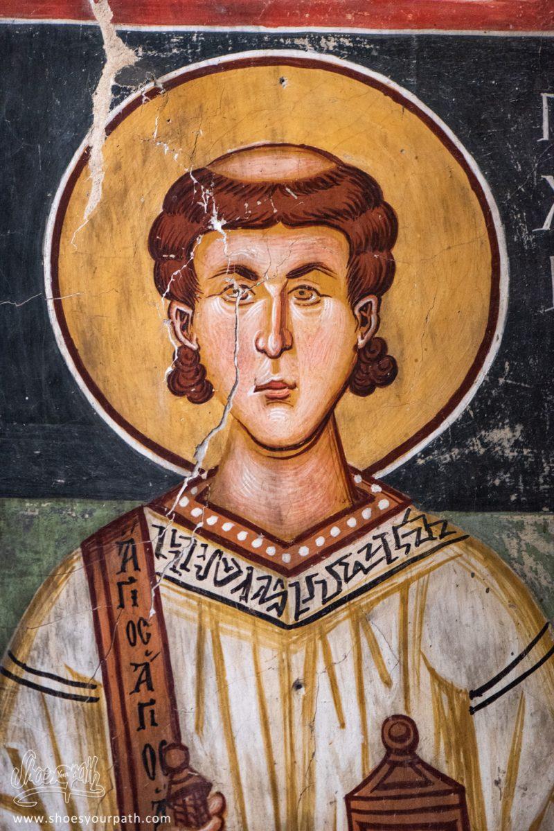 Fresque Murale De La Chapelle De Saint Michel Archange à Pedoulas
