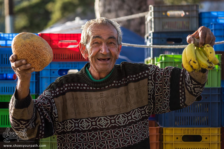 Andreas, le vieux vendeur de fruit de Troodos