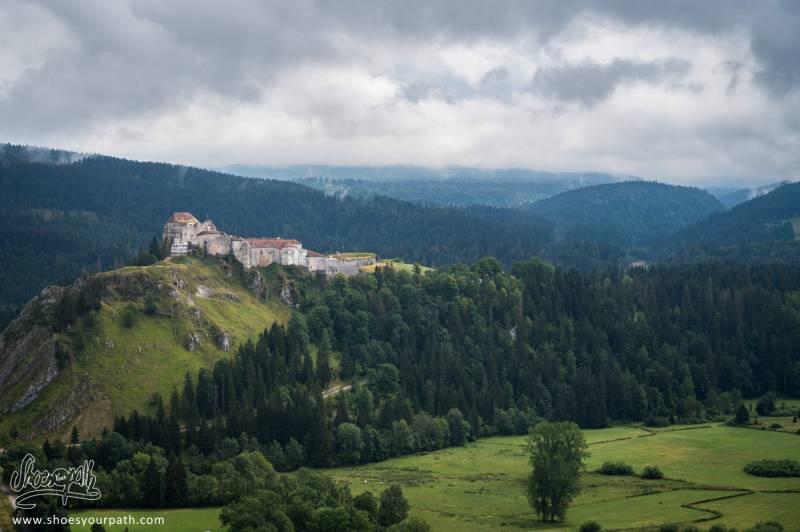Le Chateau De Joux Vu Depuis Les Bois à La Sortie De Pontarlier