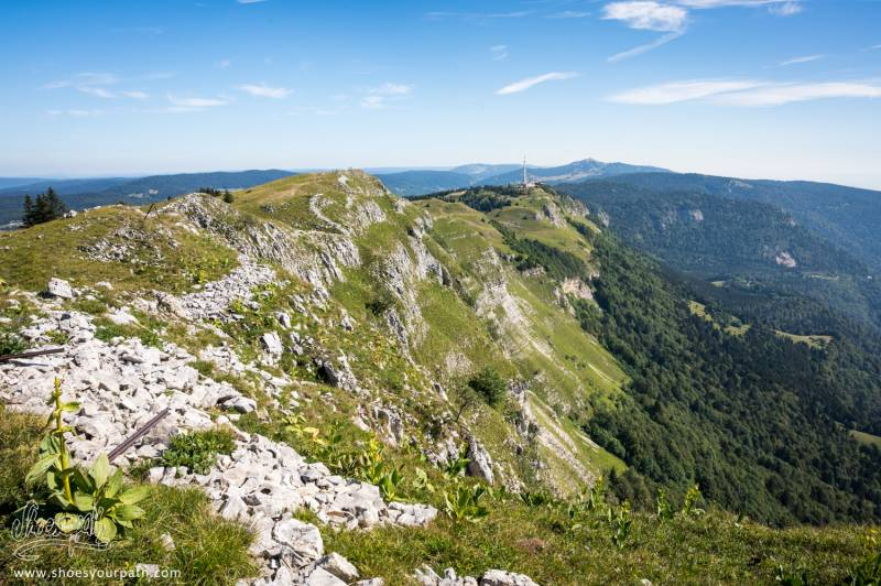 Le Grand Mont Rond Vu Depuis Le Chemin Des Crêtes Du Jura